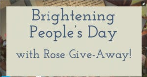 Brightening Peoples' Day with Rose Give-Away